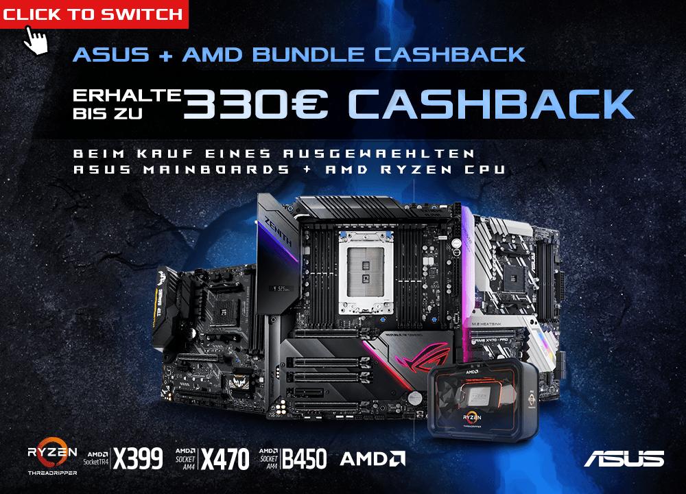 ASUS Cashback-Aktion auf AMD Mainboard/CPU Kombination