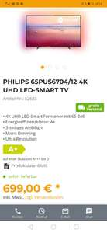 PHILIPS 65PUS6704/12 4K UHD LED-SMART TV