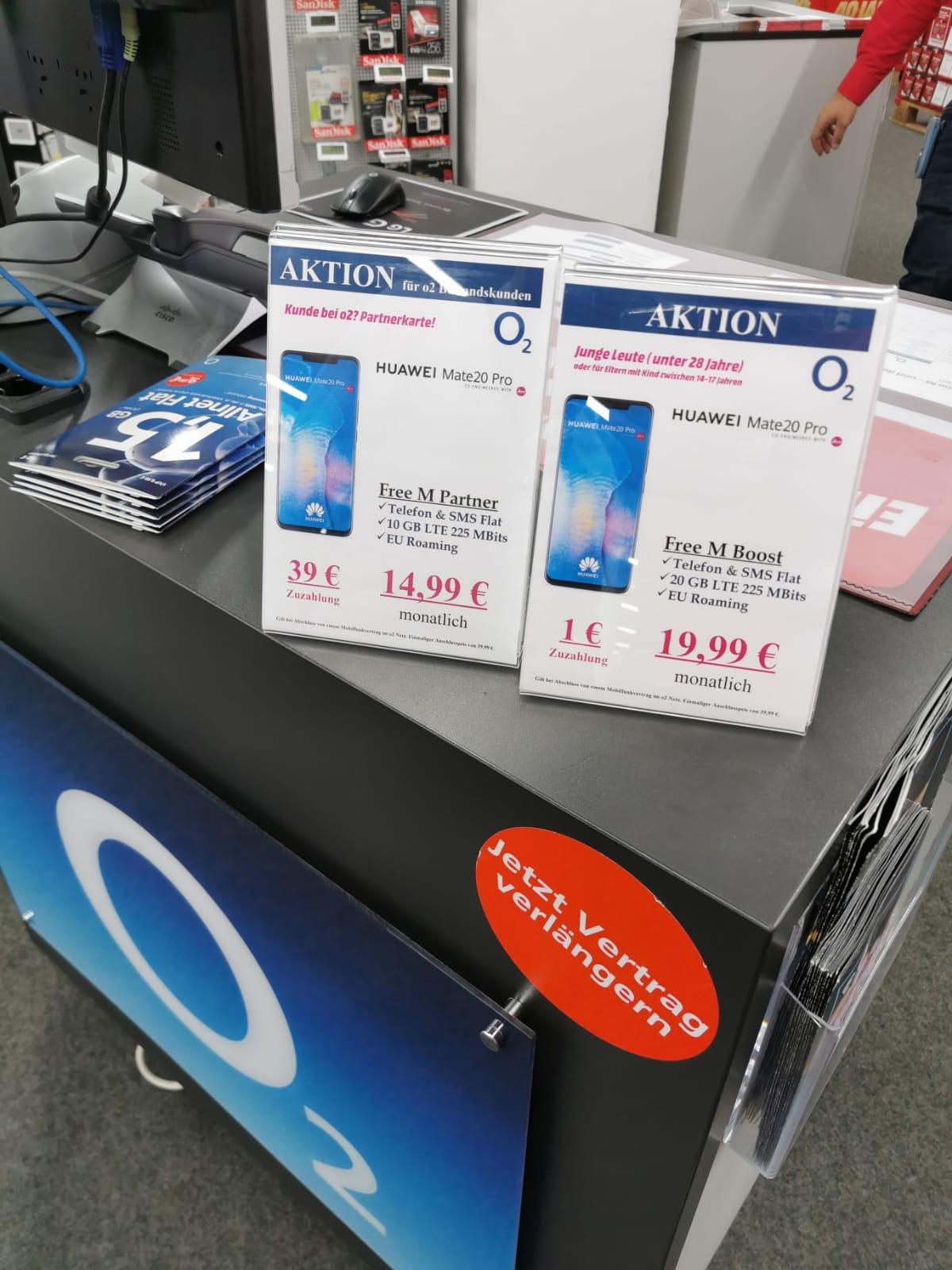 (LOKAL KÖLN) o2 Free M Partnerkarte für effektiv 59,13 € & Free M Boost Junge L. für effektiv 141,13 € in 2 Jahren durch Verkauf des Handys