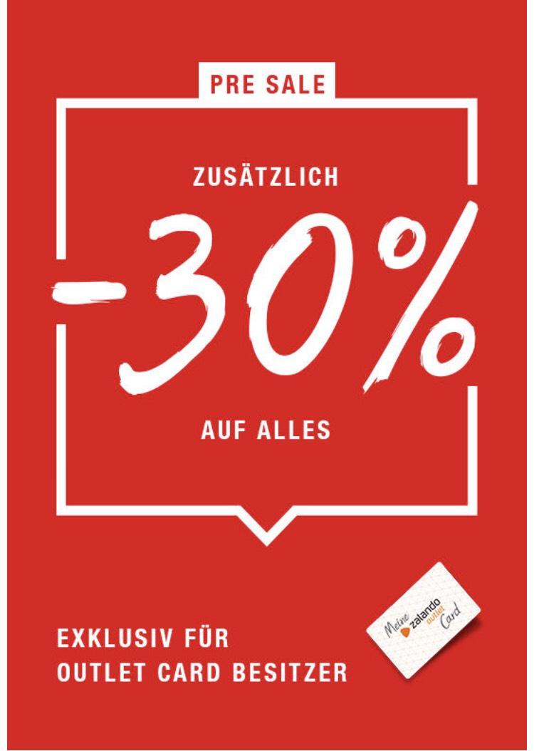 30% Rabatt auf alles in allen Zalando Outlet Stores z.B Berlin, Hamburg oder Ffm