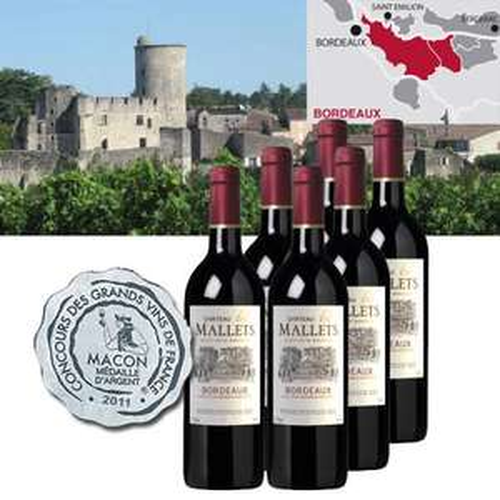 Wein: 6 Flaschen Bordeaux Château les Mallets (Jahrg. 2010), inkl. Versand 38,90€ @iBOOD