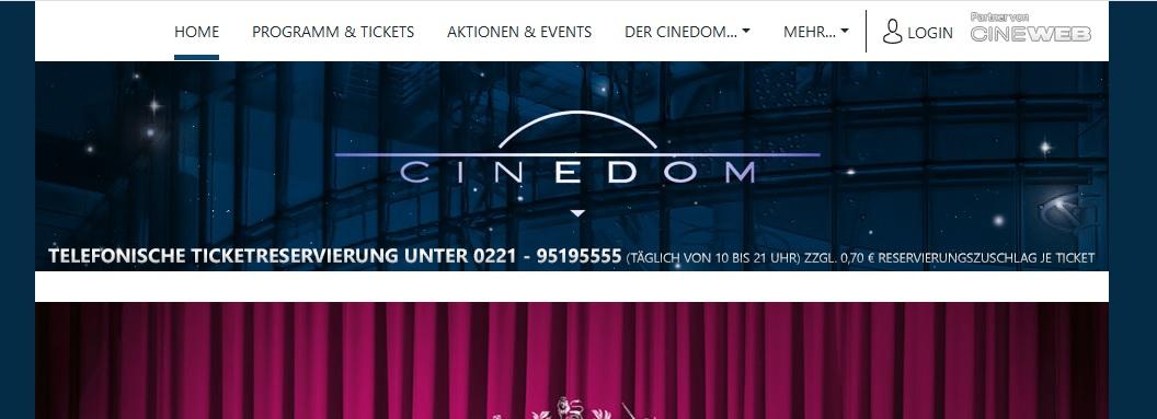 [Lokal Köln] Cinedom - von Mo bis Do alle Tickets 4,50 Euro