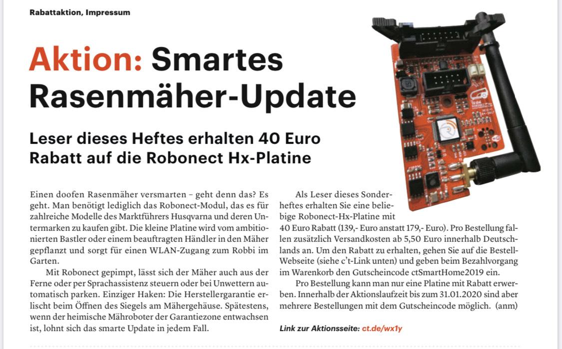 c't Smart Home: Smartes Mähroboter Update (Robonect)