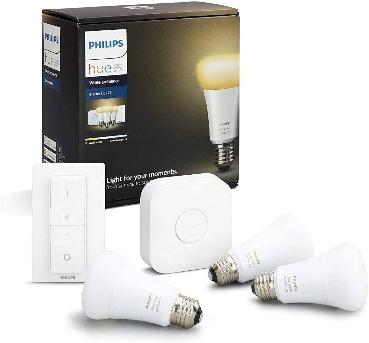 [yourhome] Philips Hue White Ambiance E27 LED Lampe ( weiß ) Starter Set