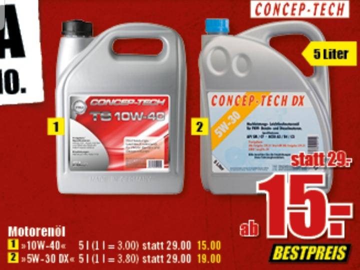 ( B1 Discount Baumarkt Dinslaken ) Motoröl Concep Tech DX 5W-30 5L