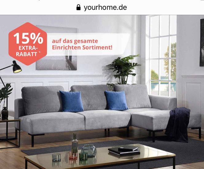 15% Rabatt bei yourhome bis 21.10.19
