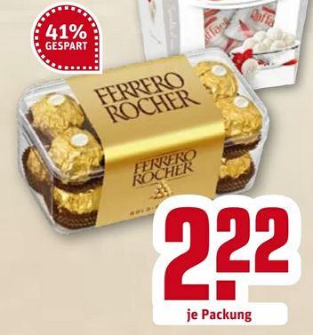 REWE: Ferrero Rocher in der 200 Gramm Schale für 2,22€