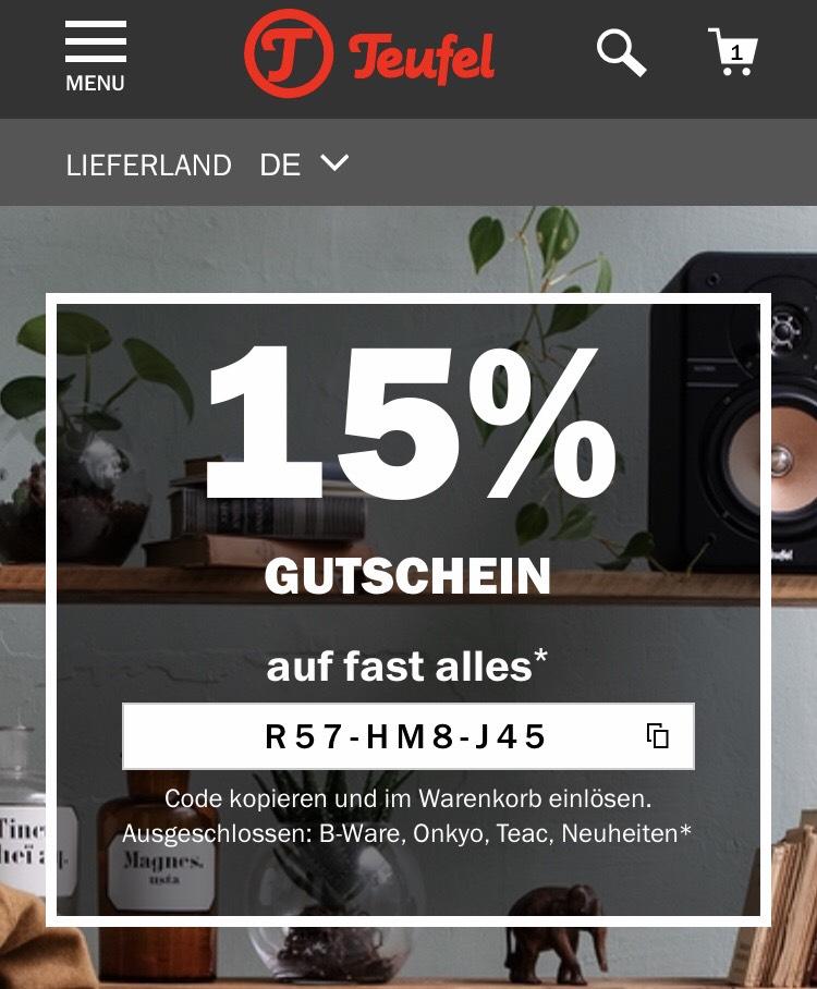 Teufel.de - 15% auf fast alles