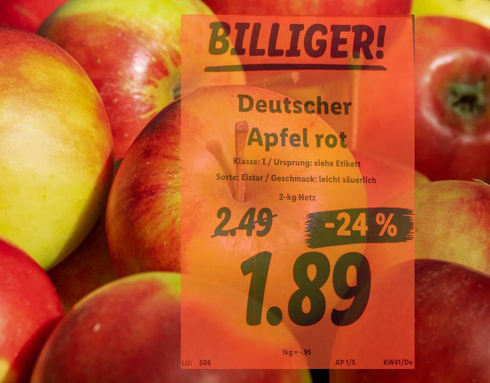 2kg Deutsche Elstar Äpfel bei Lidl für 1,89 EUR