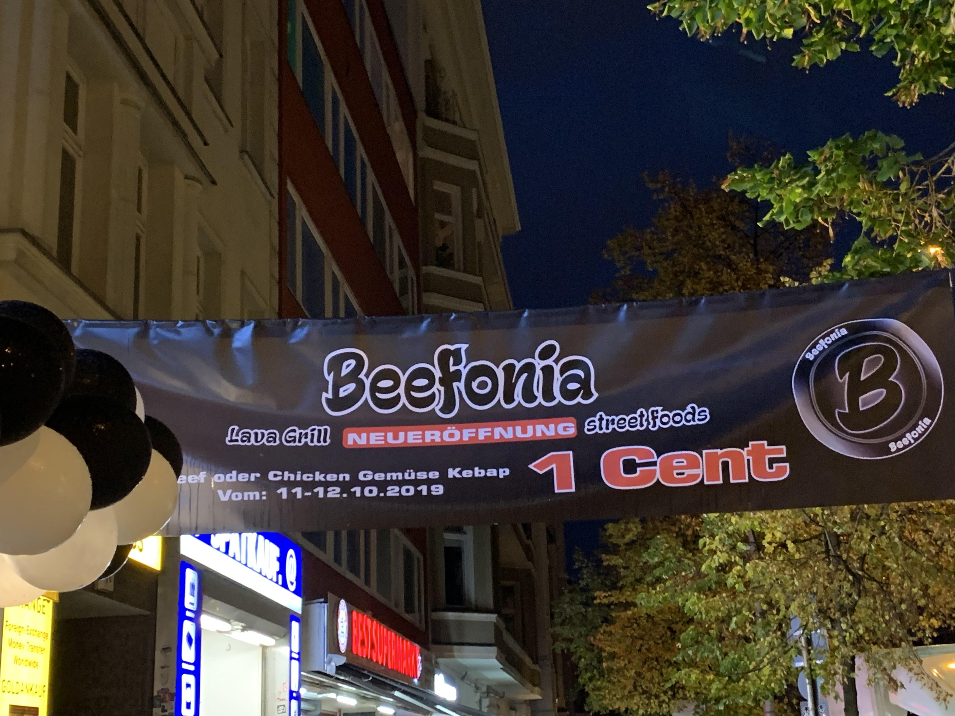Döner 1 Cent - Beefonia Neueröffnung   Berlin