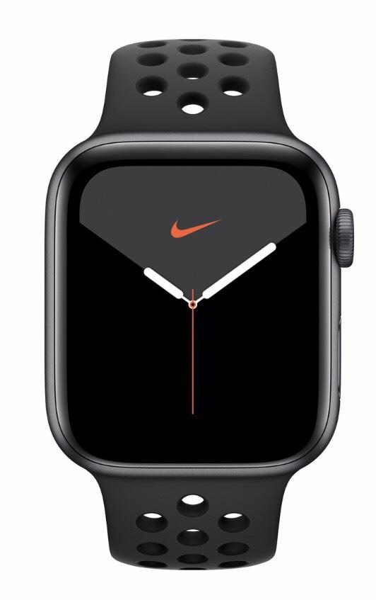 UPDATE: Beispiel Apple Watch Series 5 40 mm Aluminiumgehäuse Space Grau, Nike Sportarmband Anthrazit/Schwarz