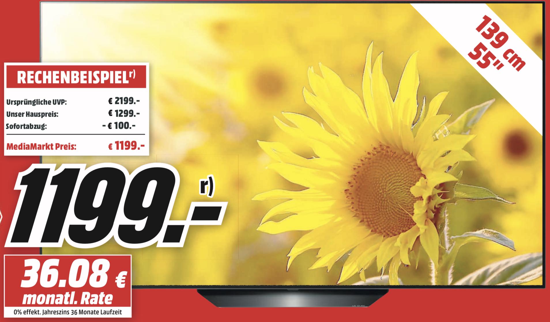 Lokal MM Frankfurt BA: LG OLED55B97LA 139cm 4K UHD Oled TV für 1199€