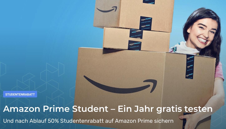 Amazon Prime für 12 Monate kostenlos (nur für Studenten)! Anschließend nur 50%!