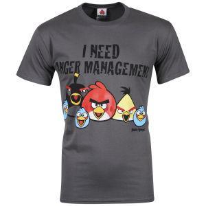 "(UK) Angry Birds T-Shirt ""I need Anger Management"" für 11.10€ @ Zavvi"