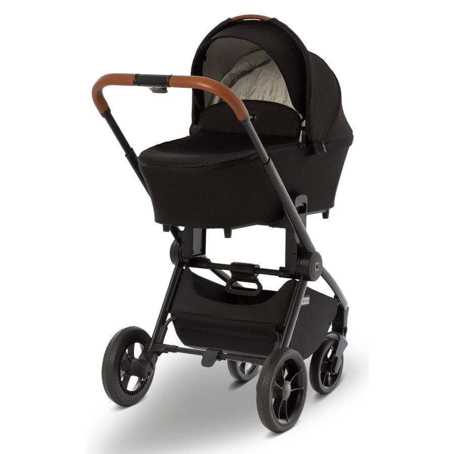 Babymarkt MOON Kombikinderwagen Resea Kombi black/black panama