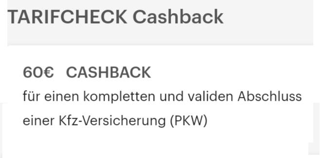 [Shoop] 60€ Prämie für ein Wechsel der Autoversicherung bei Tarifcheck