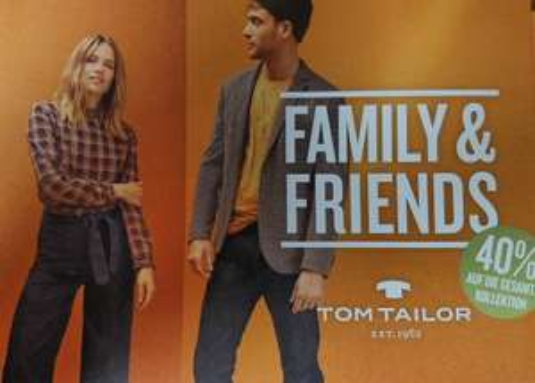 """Tom Tailor 40% auf """"die Kollektion"""" 25% auf """"Schuhe & Accessoires"""