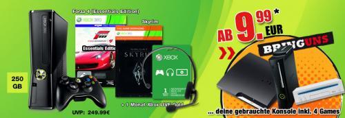 Gamestop Tauschangebot Xbox 360 Holiday Value Bundle ab 9,99€