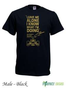 "Formel 1 limitiertes Kimi Räikkönen Abu Dhabi 2012 T-Shirt ""Leave me Alone I know what I'm doing"" für 14,98£ = ca. 18,54€"