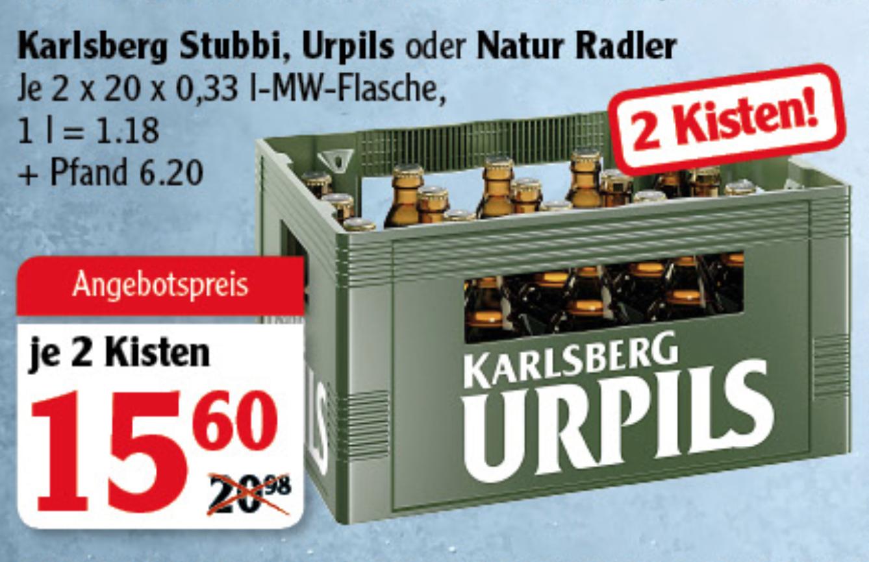 [GLOBUS] Karlsberg Urpils *Stubbi* Bier (2 x 20 x 0,33l)