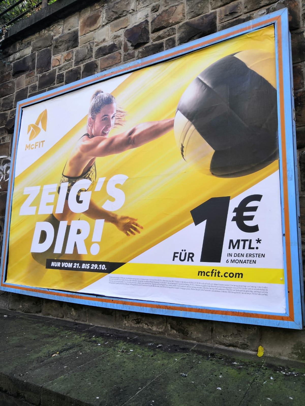 McFit in den ersten 6 Monaten für 1 Euro, danach 19,90