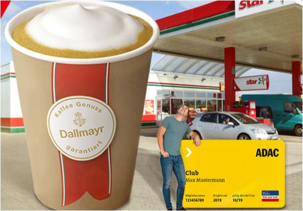 [ADAC Mitglieder] Gratis Kaffee Spezialität an Star Tankstellen + 1 Cent Rabatt auf Kraftstoffe