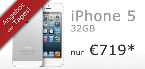 Apple iPhone 5 32GB in weiss mit T-Mobile Netlock für 719€