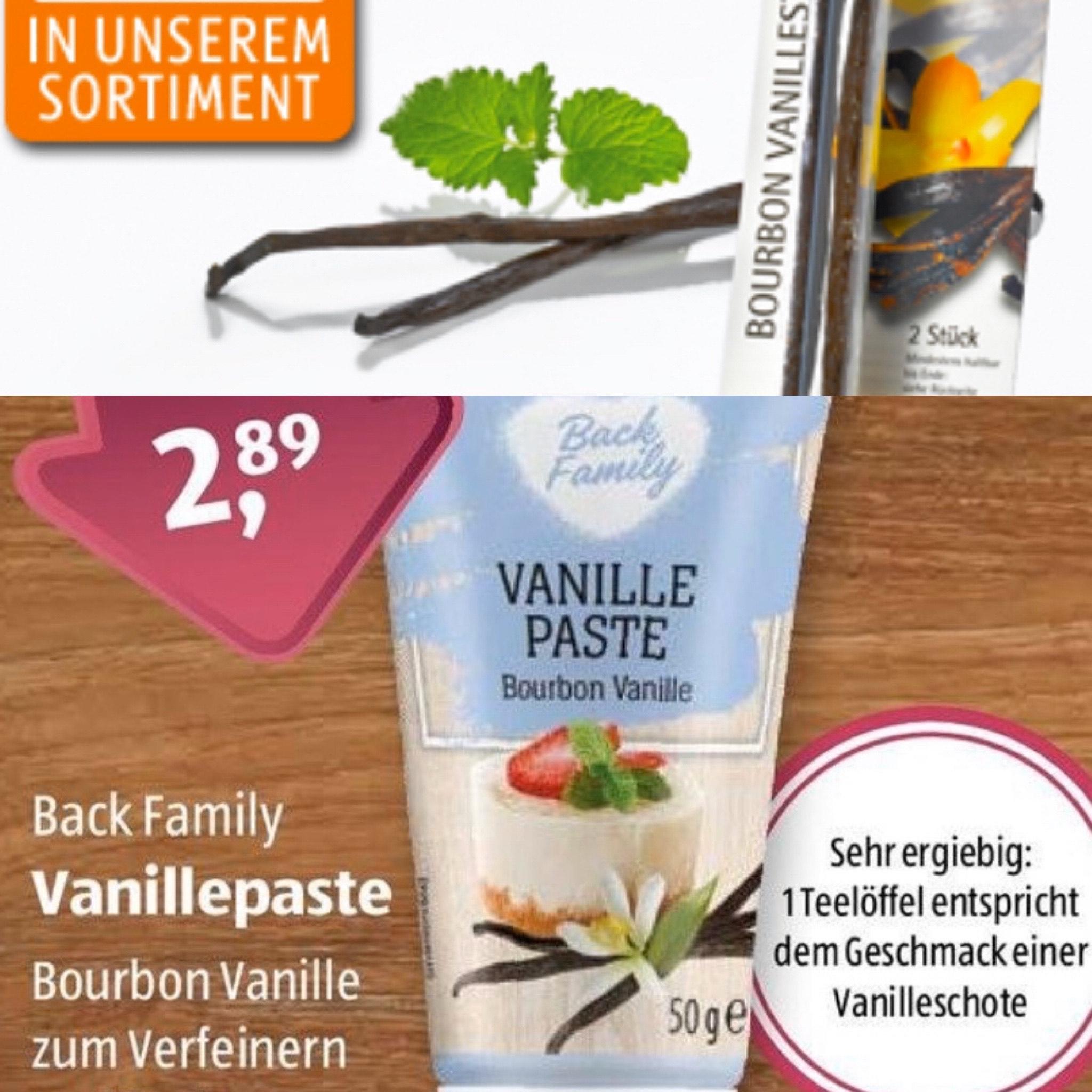 Vanilleschote für 1,99€ & Vanillepaste 15% für 2,89€