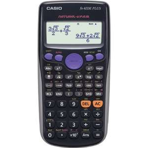 [prime] Casio FX-82DE Plus Wissenschaftlicher Taschenrechner, Batteriebetrieb