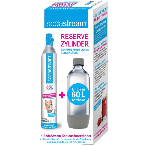 Sodastream Reserve Zylinder 60l + Sodastream PET-Flasche [Rewe]