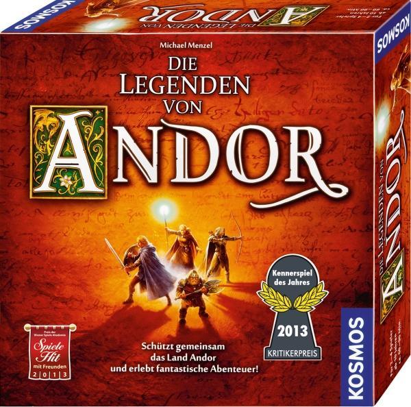 Die Legenden von Andor (Kennerspiel des Jahres 2013) für 2-4 Spieler [Brettspiel]
