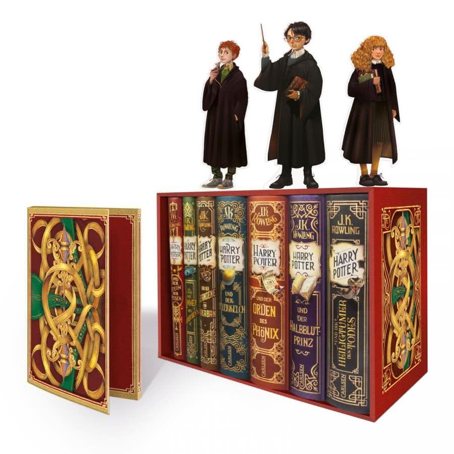 Harry Potter: Band 1-7 im Schuber mit exklusiven Aufstellern