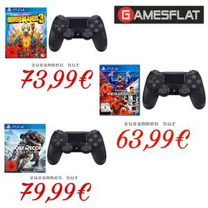 Dualshock 4 PS4 Controller V2 + PES Pro Evolution Soccer 2020 PS4 69,98€ / Ghost Recon Breakpoint 85,98€ o. Borderlands 3 79,98€ [Gamesflat]