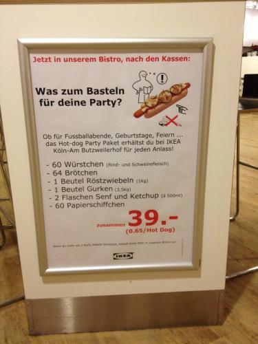 [KÖLN LOKAL??] IKEA Partypaket 60 komplette Hotdogs für 39€