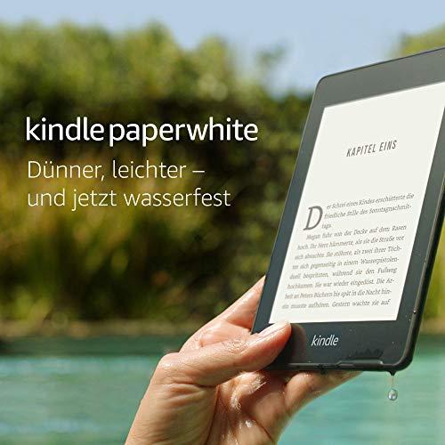 [Amazon] Kindle Paperwhite, wasserfest, 6 Zoll 8gb – mit Spezialangeboten - Schwarz