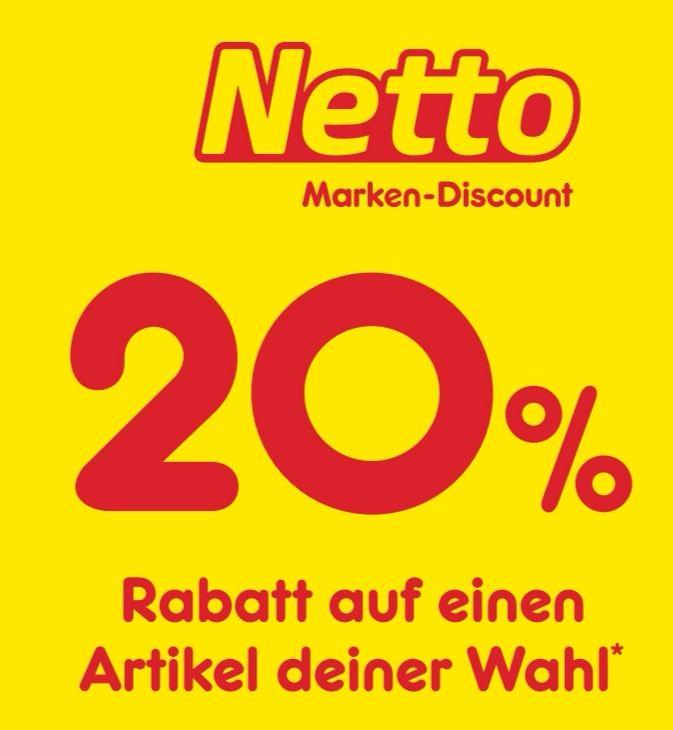 [Netto MD] 10% 20% Coupon zum Ausschneiden - für je einen Artikel deiner Wahl - gilt bundesweit