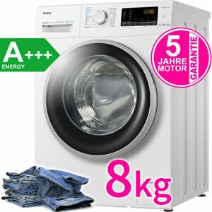 Haier 8 kg Waschmaschine A+++ Inverter Motor AquaStop 1400 UpM Edelstahl Trommel