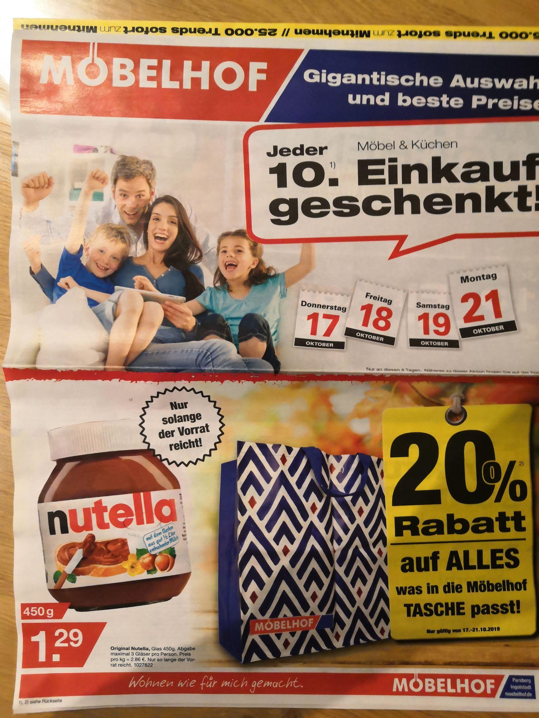 Original Nutella 450g Ingolstadt Parsberg