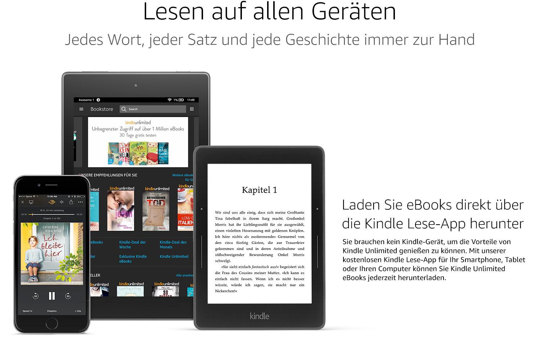 Kindle unlimited Abo 2 Monate (3 für Studenten) gratis für Prime Mitglieder