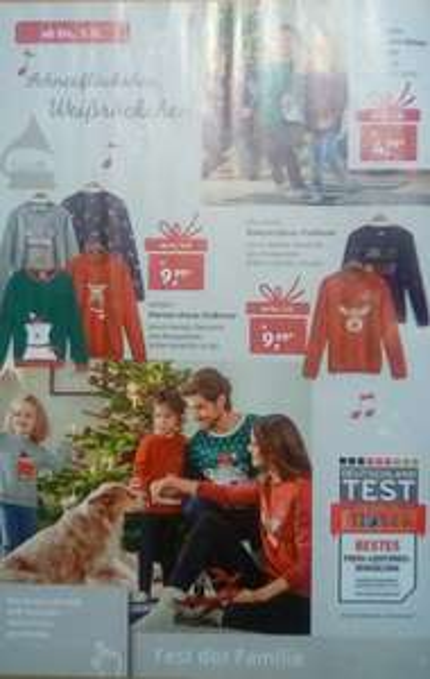 Vormerken Aldi Süd Weihnachtspullover für die ganze Familie ab 05.12.