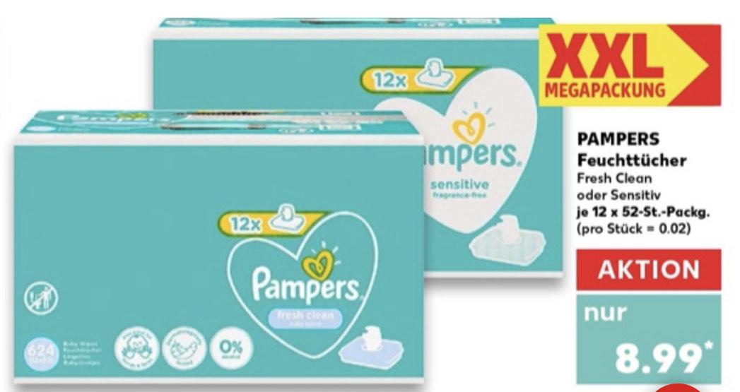 Pampers Feuchttücher MEGA XXL Pack bei Kaufland