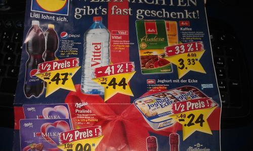 (lokal?) Pepsi, Pepsi Light, Light Lemon, Max je, 1,5l für 0,47 € / Vittel 2l für 0,44 € bei Lidl (Hamburg) ab 17.12.2012
