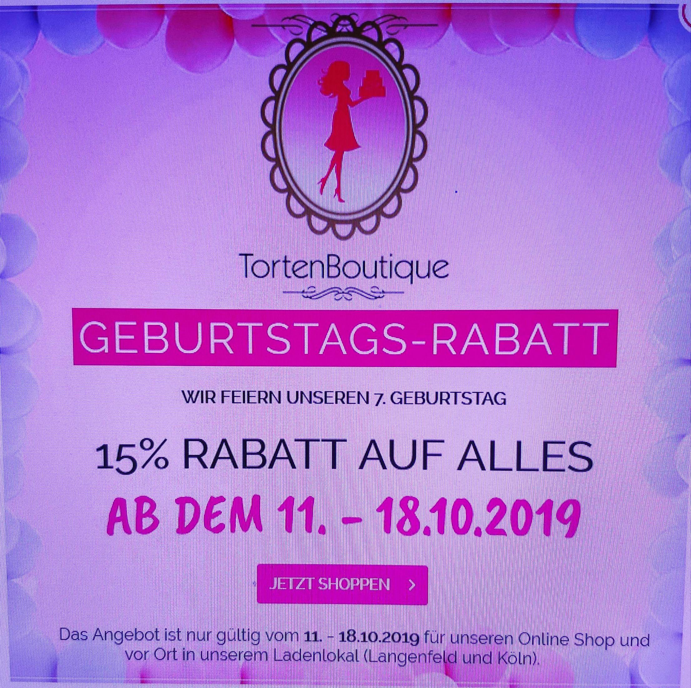 15% bei TortenBoutique