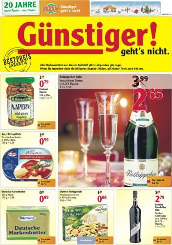 [Lokal?] Rotkäppchen  für 2,65 EUR pro 0,75 l / Jever 20x0,5 für 9,99 EUR @ Globus Halle-Bruckdorf