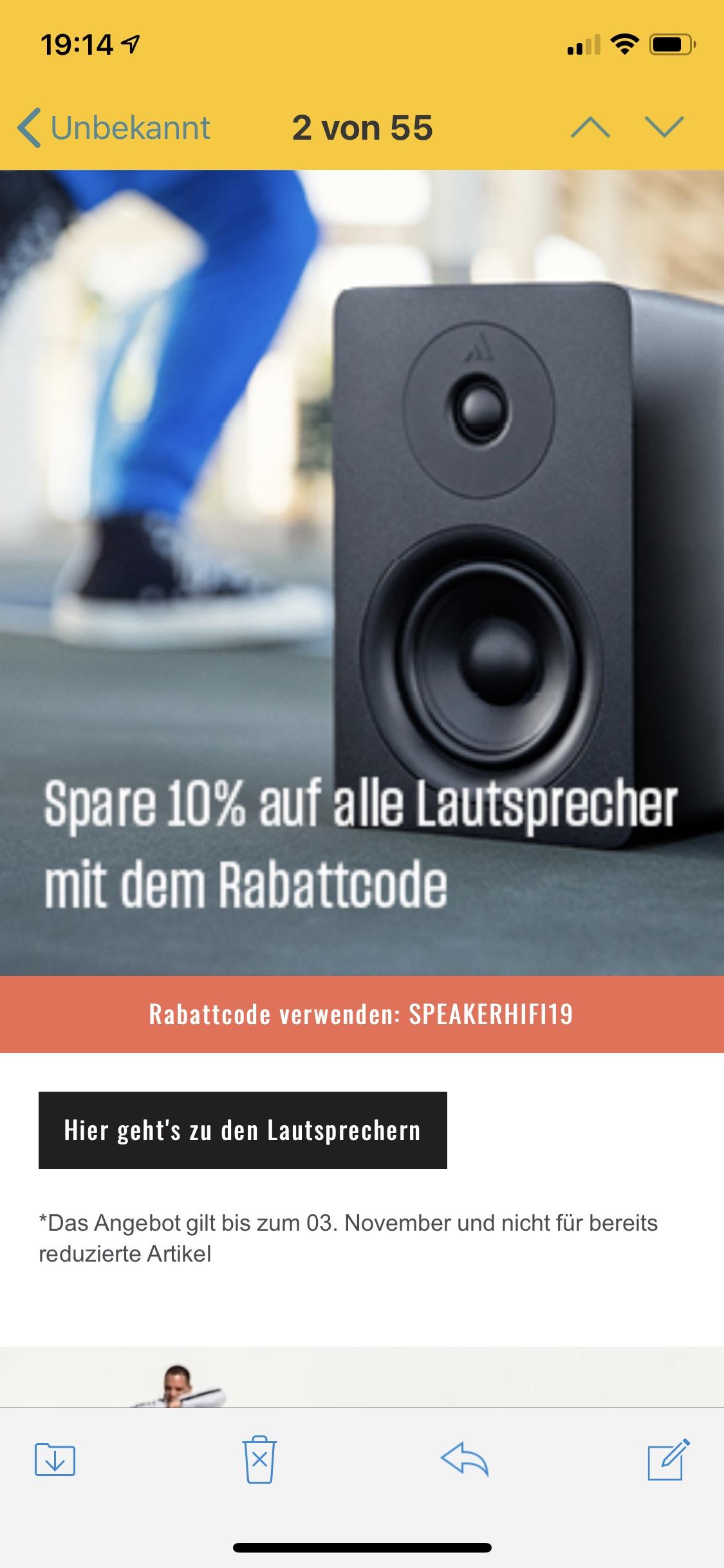 Hifi-Klubben: 10% auf Speaker und Kopfhörer