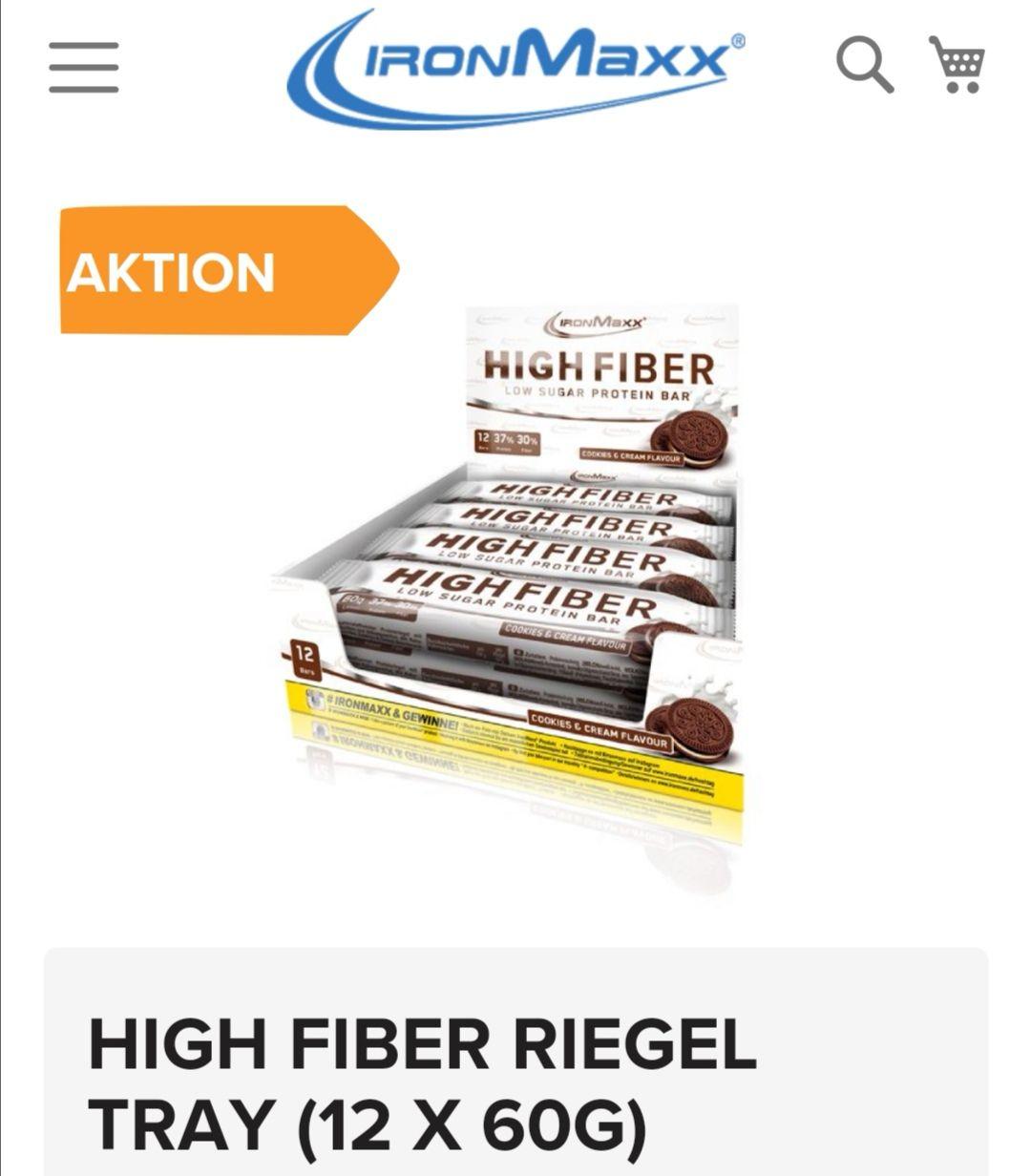 12x Ironmaxx Protein Riegel (0,49/Riegel, ab 30€ versandkostenfrei)
