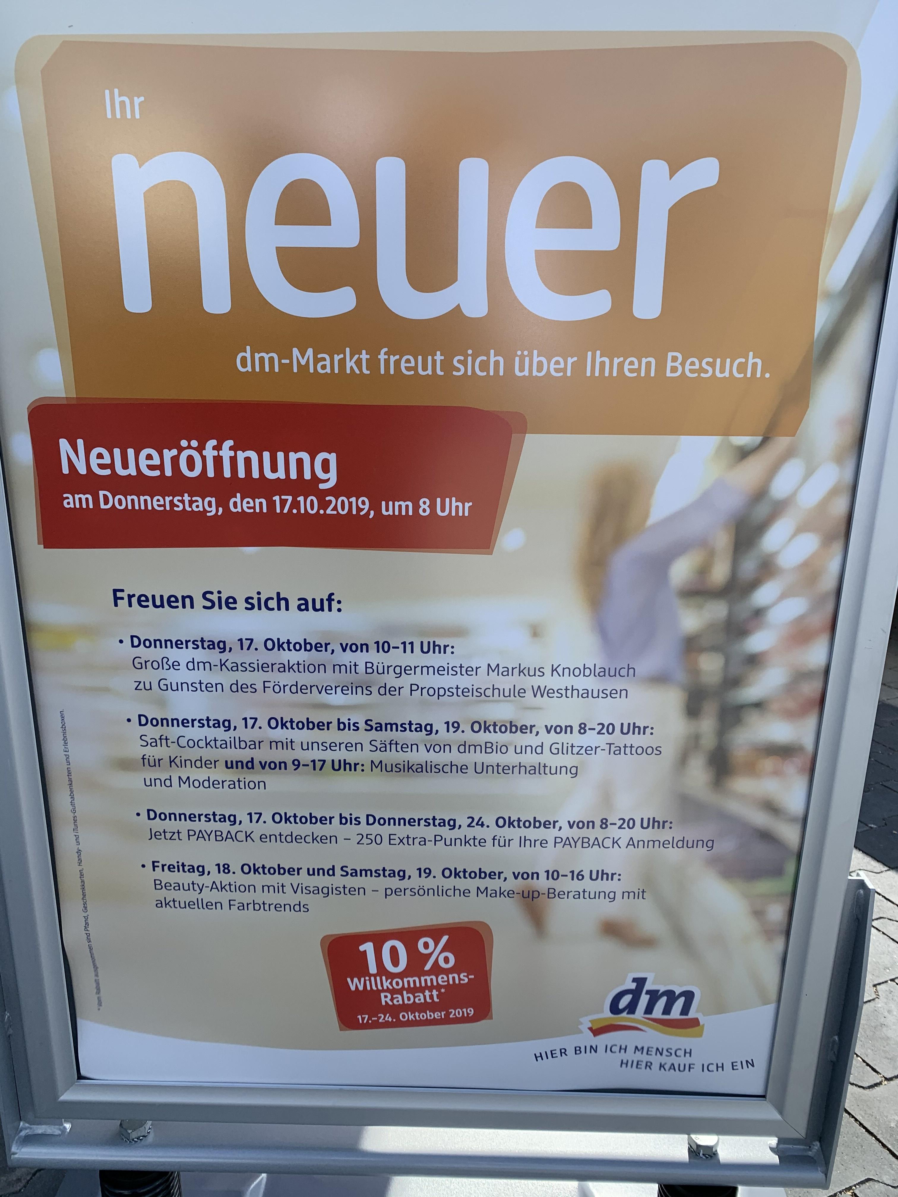 10% auf alles im DM in 73463 Westhausen [Lokal]