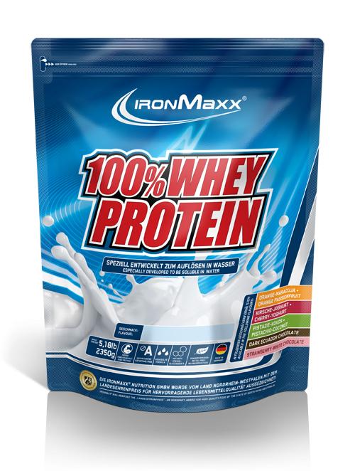 Ironmaxx Whey (80g EW/100g) für 6,21€/kg (129g EW/€)
