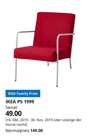 (IKEA Braunschweig) IKEA PS 1999 Sessel Orrsta rot