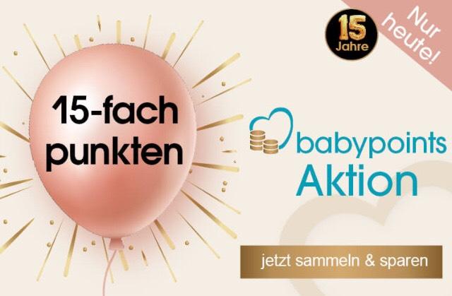 15x Babypoints & 8% Gutschein Kombination babymarkt.de